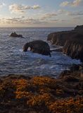 Lands End,Cornwall,from a cliff top Stock Images