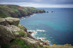 Lands End Cornwall clifftop view Royalty Free Stock Photography