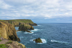 Lands end Cornwall coastline cliffs Stock Images