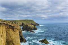 Lands end Cornwall coastline cliffs Royalty Free Stock Photo