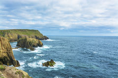 Lands end Cornwall coastline cliffs Royalty Free Stock Photography