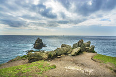 Lands end Cornwall coastline rocks Stock Photo