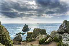Lands end Cornwall coastline rocks Royalty Free Stock Photography