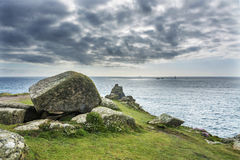Lands end Cornwall coastline rocks Stock Image
