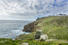 Lands end Cornwall coastline Stock Photos