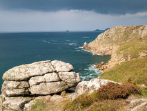 Lands End Cornwall Stock Photo