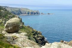 Lands end. Cornwall,england,UK stock photography