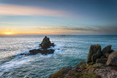 Lands End in Cornwalll Royalty Free Stock Image