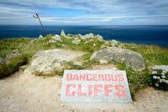 Lands End - dangerous cliffs Royalty Free Stock Photos