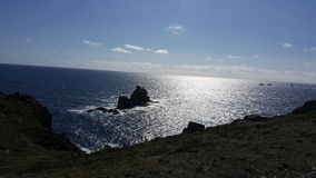 Lands End England. Sea blue sky nice view beautiful natur royalty free stock image