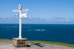 Lands End. The famous signpost at Lands End royalty free stock photography