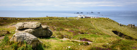 Lands end - panorama with cliffs Stock Photo