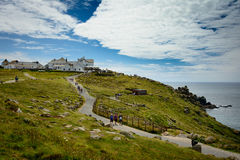 Lands end paths - panorama Royalty Free Stock Images