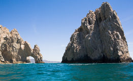 Lands End Rocks in Cabo San Lucas. Lands End rock formations at the very end of the Baja peninsula near Cabo San Lucas, Mexico Royalty Free Stock Photo