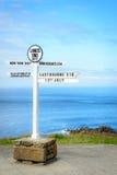Lands End signpost portrait Stock Photography