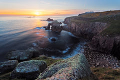 Lands End Sunset Cornwall Royalty Free Stock Images