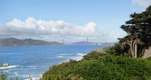 Lands End. View of Golden Gate Bridge overlooking the Pacific Ocean Royalty Free Stock Photography