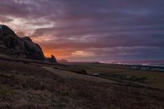 Landsacpe around Vik Village - Iceland. Icelandic village of Vik in the Southeast Iceland Royalty Free Stock Images