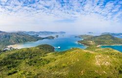 Landsacpe e linea costiera in Sai Kung fotografie stock