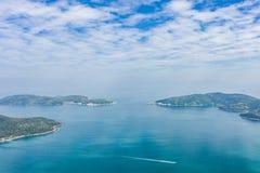 Landsacpe e linea costiera in Sai Kung immagine stock libera da diritti