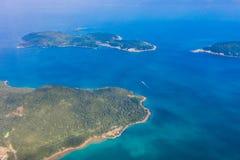 Landsacpe e linea costiera in Sai Kung immagine stock