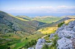 Landsacpe from the mountain, Corfu island, Greece. Landsacpe from the mountain - Corfu island, Greece Stock Photos