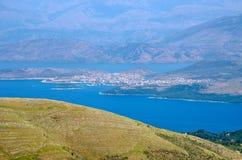 Landsacpe from the mountain, Corfu island, Greece. Landsacpe from the mountain - Corfu island, Greece Royalty Free Stock Image
