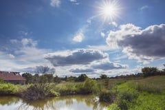 Landsafton Royaltyfri Foto