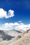Landsape dalla La di Khardung (passaggio), Ladakh Fotografie Stock Libere da Diritti