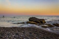Landsape de coucher du soleil Image libre de droits