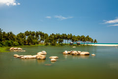 Landsape of the lake at the seashore. б Royalty Free Stock Image
