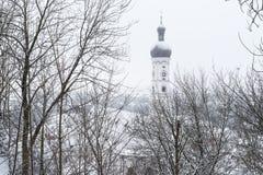 Landsberg am Lech в зиме Стоковые Фото