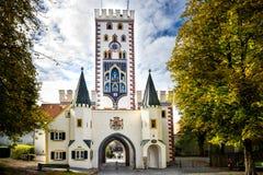 Landsberg am Lech - Bayertor, historische Stadttor Bayern, Deutschland stockbilder