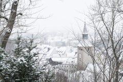 Landsberg am Lech pendant l'hiver images libres de droits