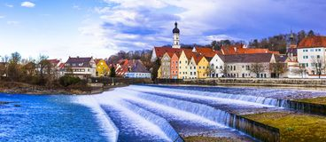Landsberg am Lech - schöne Stadt im Bayern deutschland lizenzfreies stockfoto