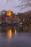 Landsberg and River Lech at night Royalty Free Stock Photography