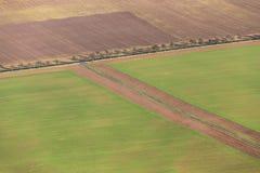 Landsbygd i den Kyffhaeuser regionen i Thüringen Arkivfoto