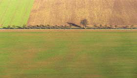 Landsbygd i den Kyffhaeuser regionen i Thüringen Fotografering för Bildbyråer