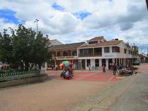 Landsbygd i Raquira, Colombia Arkivfoton