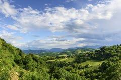 Landscae nära Urbino Royaltyfri Foto