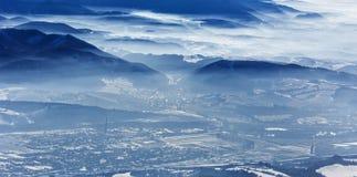 Landscap di inverno, parco nazionale Mala Fatra e Tatras basso, Slovacchia Immagini Stock Libere da Diritti