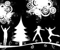 landscap silhouettes зима иллюстрация штока