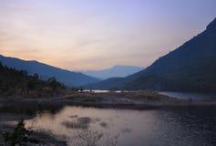 Landscape湖和山 库存照片