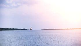 Landscape湖 水纹理 湖在黎明 嘴 图库摄影