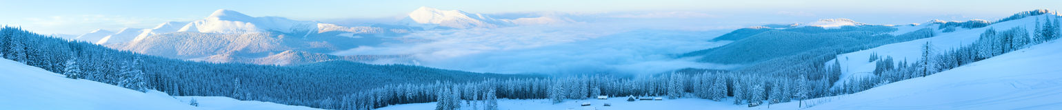 landscape зима панорамы горы стоковые фото