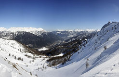 Landscape от пика Bardonecchia - итальянских alps Стоковое фото RF