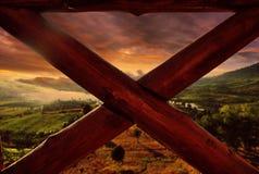 landscape сумерк Стоковое Фото