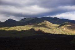 Landscape. South of Wailea,Maui,Hawaii-the wiew of Haleakala from La Peruose Bay Stock Photos