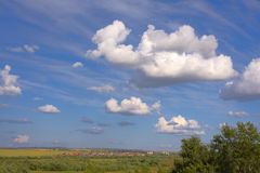 Landscape. Wih sky and countryside stock images