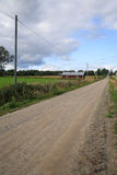 Landscape. Road through a agricultural landscape Royalty Free Stock Photography